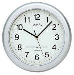 Porovnání ceny Nástěnné hodiny AMS 5956 stříbrná, AMS 5957 bílá rádiem řízené AMS 5956
