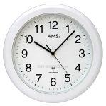 Porovnání ceny Nástěnné hodiny AMS 5956 stříbrná, AMS 5957 bílá rádiem řízené AMS 5957