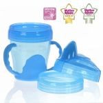 Porovnat ceny VITAL BABY - Detský výučbový 3 dielny hrnček 200 ml, modrý