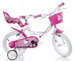 Porovnat ceny DINO BIKES - Detský bicykel 144RHK Hello Kitty so sedačkou pre bábiku a košíkom - 14