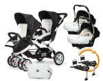 Porovnat ceny CASUALPLAY - Set kočík pre dvojičky Stwinner, 2 x autosedačka Baby 0plus, 2x BaseFix Baby 0 a Bag 2017 - ICE.