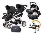 Porovnat ceny CASUALPLAY - Set kočík pre dvojičky Stwinner, 2 x autosedačka Baby 0plus, 2x BaseFix Baby 0 a Bag 2017 - Metal