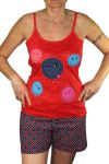 Porovnat ceny Vienetta Smile pyžamo šortky-tílko XL červená