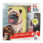 Porovnat ceny Universal The Secret Life Of Pets Mel Wash Kit darčeková sada U - Pena do kúpeľe 250 ml + mycí houba 1 ks Pro všechny typy pokožky