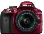 Porovnání ceny Nikon D3300 (červený)+18-55 AF-S DX VR