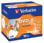 Porovnat ceny VERBATIM DVD-R (10-pack)Printable/16x/4.7GB/Jewel