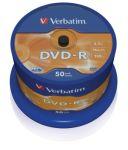 Porovnat ceny VERBATIM DVD-R(50-Pack)Spindl/MattSlvr/16x/4.7GB