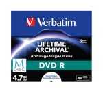 Porovnat ceny Verbatim DVD R 4,7 GB (120min) M-Disc 4x Printable jewel box, 5ks/pack