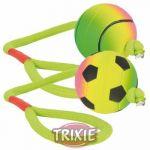 Porovnání ceny (bez zařazení) Trixie neonový míč na šňůře mechová guma 6cm / 30cm