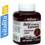 Porovnání ceny MedPharma Beta karoten 10000 m.j. - zdroj vitamínu A (37 tablet)