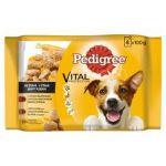 Porovnat ceny Pedigree ADULT 4pack (2 x hov. & králík + 2 x krůtí s mrkví) 400g