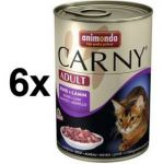 Porovnat ceny Animonda Carny Adult hovězí + jehněčí 6 x 400g