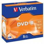 Porovnat ceny Verbatim DVD-R 4,7GB, 16x, jewel box, 5ks (43519)