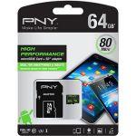 Porovnat ceny PNY MicroSDXC High Performance 64GB Class 10 UHS-I + SD adaptér (SDU64G10HIGPER80-EF)