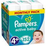 Porovnat ceny PAMPERS Active Baby-Dry vel. 4+ Maxi (152 ks) - mesačné balenie (8001090448392)