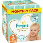 Porovnat ceny PAMPERS Premium Care veľ. 3 Midi (204 ks) - mesačné balenie (8001090379498)