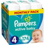 Porovnat ceny PAMPERS Active Baby-Dry veľ. 4 Maxi (174 ks) - mesačné balenie (8001090172556)