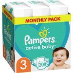 Porovnat ceny PAMPERS Active Baby-Dry vel. 3 Midi (208 ks) (8001090172518)