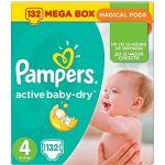Porovnat ceny PAMPERS Active Baby-Dry veľ. 4 Maxi Mega box (132 ks) (4015400265238)
