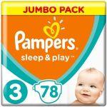 Porovnat ceny Pampers Sleep&play midi 4-9kg 78ks