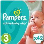 Porovnat ceny PAMPERS Active Baby-Dry veľ. 3 Midi (42 ks) (4015400537427)