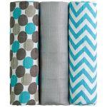 Porovnat ceny T tomi T-tomi Bambusové BIO plienky, 3 ks, modré guľôčky (8594166543522)