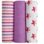 Porovnat ceny T tomi T-tomi Bambusové BIO plienky, 3 ks, ružové hviezdičky (8594166543546)