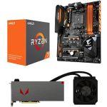 Porovnat ceny AMD RADEON VEGA AQUA PACK + AMD Ryzen 7 1700X + Gigabyte X370 (Vega 64 Liquid with 1700X+Giga) + ZDARMA Hra pro PC Prey a Wolfenstein II: The New Colossus