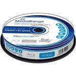 Porovnat ceny MediaRange BD-R (HTL) 50GB Dual Layer Printable 10 ks CakeBox (MR509)