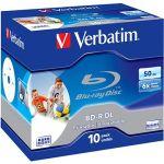 Porovnat ceny Verbatim BD-R 50GB Dual Layer Printable 6x, 10ks v krabičke (43736)