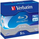 Porovnat ceny Verbatim BD-R 50 GB Dual Layer 6x, 5 ks v škatuľke (43748)