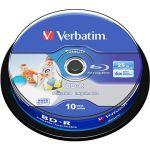 Porovnat ceny Verbatim BD-R SL 25GB Printable, 10ks CakeBox (43804)