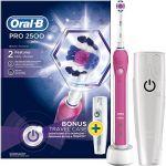 Porovnat ceny Oral-B Pre 2500 3D White Pink + Travel Case (4210201162599) + ZDARMA Náhradní nástavec pro zubní kartáčky Oral B EB 50-2 Cross Action