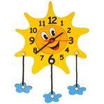 Porovnání ceny DoDo Dětské dřevěné hodiny - Sluníčko s mráčky