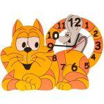 Porovnání ceny DoDo Dětské dřevěné hodiny - Kočka s myškou