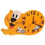 Porovnání ceny DoDo Hodiny do dětského pokoje Dětské dřevěné hodiny - Kočka (8594155460281)