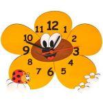 Porovnání ceny DoDo Hodiny do dětského pokoje Dětské dřevěné hodiny - Kopretiny (8594155460250)