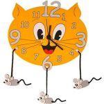 Porovnání ceny DoDo Dětské dřevěné hodiny - Kočka s myškami