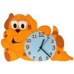Porovnání ceny DoDo Hodiny do dětského pokoje Dětské dřevěné hodiny - Pejsek (8594155461349)