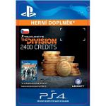 Porovnání ceny SONY Tom Clancys The Division - 2400 Premium Credits Pack - PS4 CZ Digital (SCEE-XX-S0030216)