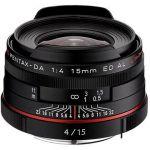 Porovnání ceny PENTAX HD DA 15mm f/4.0 ED AL Limited. Black (21470)