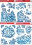 Porovnání ceny Anděl Přerov Okenní fólie Ledová Sněhuláčci, Mikuláš a Ježíšek se stříbrnými glitry set