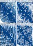 Porovnání ceny Anděl Přerov Okenní fólie rohová zamrzlá s duhovými glitry 42x30cm set