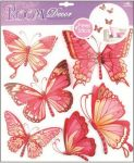 Porovnání ceny Anděl Přerov Samolepka Room Decor Motýli s pohyblivými křídly růžoví, 30x30cm
