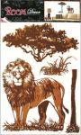 Porovnání ceny Anděl Přerov Samolepka Room Decor lev, 70x42cm