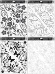 Porovnání ceny Anděl Přerov Okenní fólie rohová s ornamenty černá, čedá, bílá, hnědá 42x30cm set