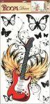 Porovnání ceny Anděl Přerov Samolepka Room Decor červená kytara, 69x32cm POSLEDNÍ KUS