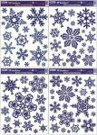 Porovnání ceny Anděl Přerov Okenní fólie Vločky s modrými glitry set