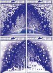 Porovnání ceny Anděl Přerov Okenní fólie rohová s glitrem zimní krajina 42x30cm set