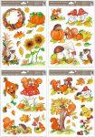 Porovnání ceny Anděl Přerov Okenní fólie malovaný podzim sovy,veverky,lišky 37x26 cm set